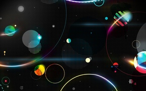Picture space, abstraction, planet, Space advance