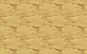 Picture surface, yellow, background, texture, folds, relief, wrinkled paper