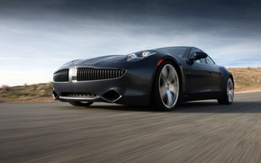 Picture movement, speed, track, karma, Fisker