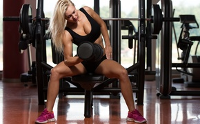 Picture workout, fitness, gym, dumbbell