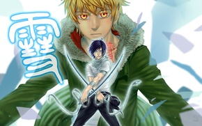 Picture art, swords, Noragami, a homeless God, Yato, Yukine