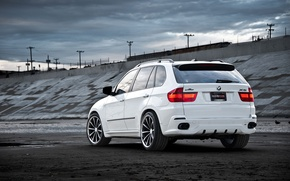 Picture white, the sky, BMW, BMW, white, the rear part, crossover