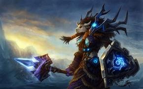 Picture wow, world of warcraft, Tauren, shaman, Horde, tauren, Horde, shaman