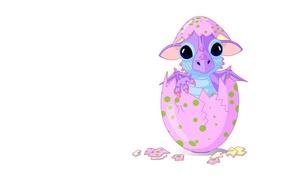 Picture background, mood, dragon, egg, art, children's, dragon, newborn