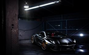 Picture glare, lamp, Lamborghini, Lamborghini, black, black, Lamborghini, LP700-4, Aventador, Aventador, LB834