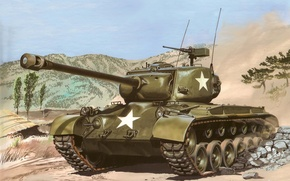 Picture USA, history, World of tanks, WoT, medium tank, Pershing, M26 Pershing