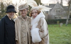 Picture the series, drama, characters, actress, Downton Abbey, Maggie Smith, Violet, Shirley MacLaine, Martha Levinson