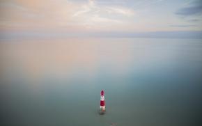 Picture sea, lighthouse, England, United Kingdom, Beachy Head