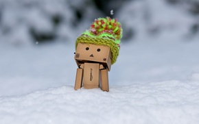 Picture winter, snow, box, hat, frost, Danbo, cap, Amazon, boxed man