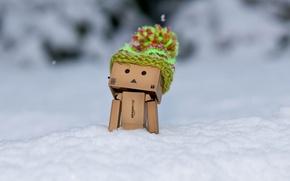Picture winter, snow, box, hat, frost, Danbo, cap, Amazon, boxed man