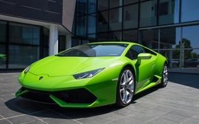 Picture green, Lamborghini, Huracan