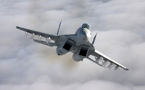 Wallpaper the plane, fighter, The MiG-35