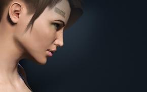 Picture girl, barcode, Vesnushki