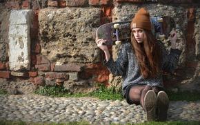Picture wall, hat, skate, skateboard, Zuzana Smrigova