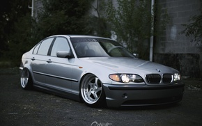 Picture bmw, tuning, power, germany, low, stance, e46