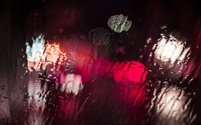 Picture water, macro, light, lights, Glass, bokeh