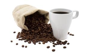 Picture coffee, grain, bag