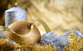 Picture balls, tree, New Year, Christmas, tinsel, Christmas, New Year, decoration