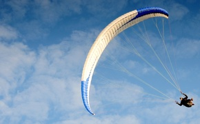 Picture trooper, parachute, skydiver