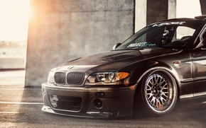 Picture The sun, Machine, Tuning, BMW, Sun, Bmw, Before, Tuning, E46, Stance, E46