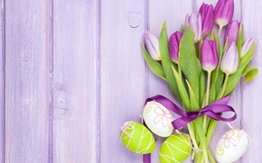 Picture flowers, eggs, Easter, tulips, flowers, tulips, spring, Easter, eggs