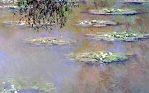 Wallpaper Water Lilies, landscape, picture, Claude Monet