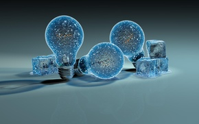 Picture ice, light bulb