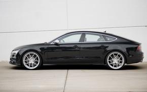 Picture Audi, Audi, black, profile, black