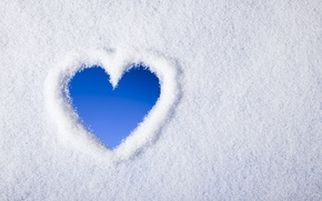 Picture winter, snow, heart, heart, winter, snow