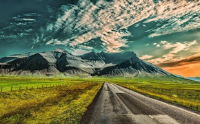 Picture road, Iceland, Hafrafell