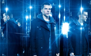 Wallpaper reflection, coat, Now You See Me 2, Jesse Eisenberg, blue, Jesse Eisenberg, mirror, The illusion ...