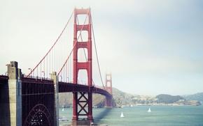 Picture bridge, the city, CA, San Francisco, Golden Gate, USA, Bay bridge