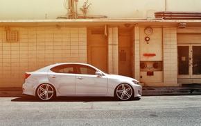 Picture Lexus, wheels, side, black, metallic, Lexus, vossen, IS250
