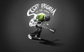 Wallpaper guitar, kid, the Scott pilgrim
