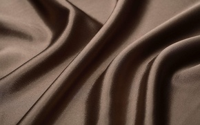 Picture texture, silk, fabric, brown, folds