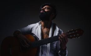 Picture guitar, guitarist, music