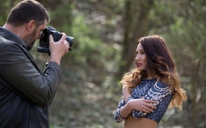Picture girl, model, photographer, photoshoot, Guenter Stoehr