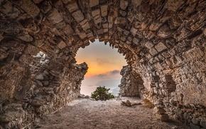 Picture landscape, stones, rocks, cave, the tunnel