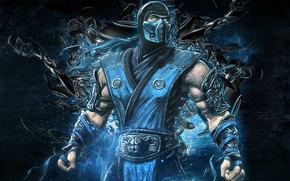 Picture video game, mortal kombat, Sub Zero