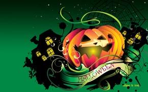 Wallpaper pumpkin, all saints day, hallowen