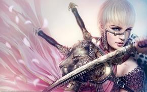 Picture girl, Mario Wibisono, warrior, saber