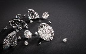 Picture stones, diamonds, fabric, faces, black, jewelry