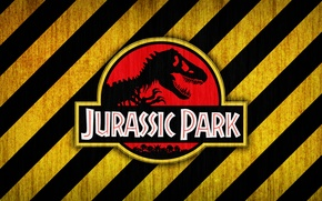 Picture red, logo, black, yellow, jurassic park, bones