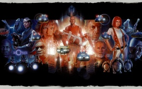 Picture Bruce Willis, art, Milla Jovovich, Gary Oldman, The Fifth Element, Leeloo, Jean-Baptiste Emanuel Debt Boug, …