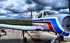 Picture the sky, the plane, technique, glider