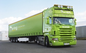 Wallpaper Green, Truck, Scania, Tractor, The truck, R620