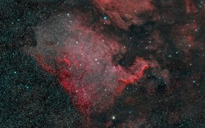 Picture Nebula, North America, in the constellation Swan
