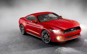 Picture Mustang, Ford, Red, 2015, Ford Mustang 2015, Mustang Red, Ford Red