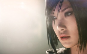 Picture tattoo, face, Electronic Arts, DICE, videogame, Faith Connors, Mirror's Edge: Catalyst