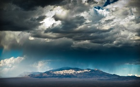Wallpaper mountains, storms, las vegas, Landscapes, Las Vegas, desert, the sky, clouds